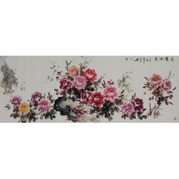 赵洪新国画花鸟富贵迎春字画之家
