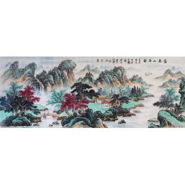 戈加军小六尺整张,横幅国画山水富春山居图字画之家