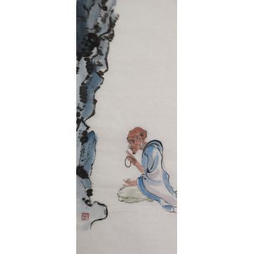 施瑞康四尺四开国画人物罗汉图字画之家