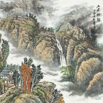 方道平斗方国画山水山居神韵字画之家