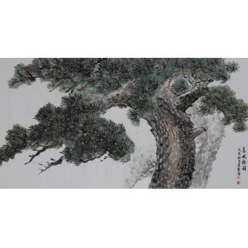 马建成六尺整张,横幅国画山水春风雅韵字画之家
