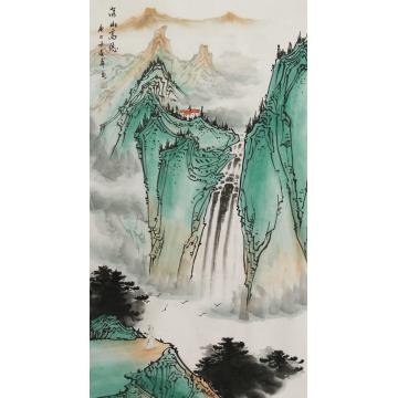 唐春华国画山水深山高隐字画之家