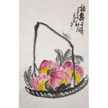 寿石国画花鸟福寿千年字画之家