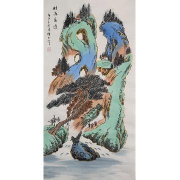 李仙山国画山水财源广进字画之家