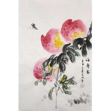 邓玉成国画花鸟福寿图字画之家