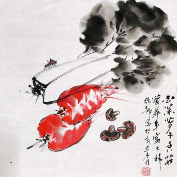 陈绍静国画花鸟百财图字画之家