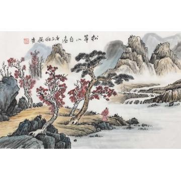 李德贵国画山水松翠山自远字画之家