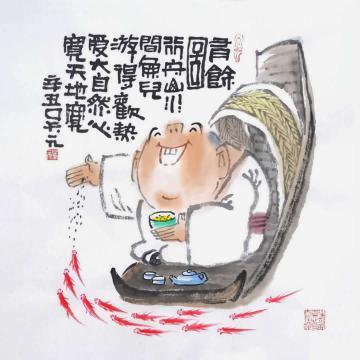吴元国画花鸟有余图字画之家