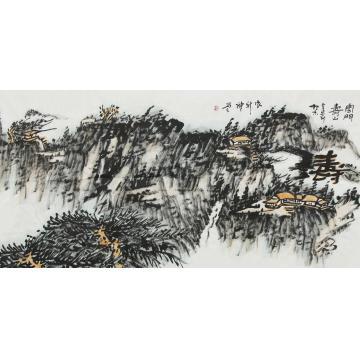 张新庆国画山水云门寿山字画之家
