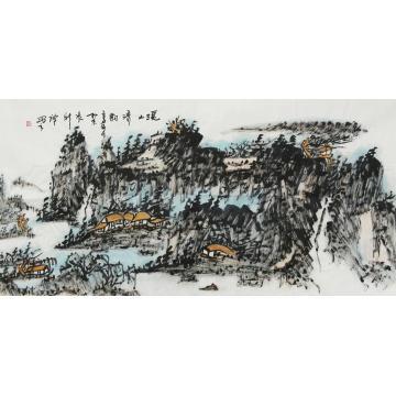 张新庆国画山水溪山清韵字画之家