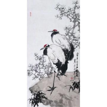 朱大成国画花鸟梅鹤图字画之家