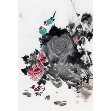 周小雨国画花鸟富贵图字画之家