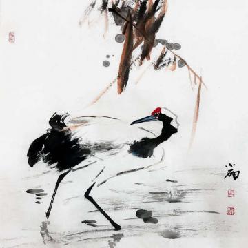 周小雨国画花鸟仙鹤字画之家