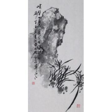朱大成国画花鸟空谷幽兰字画之家