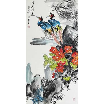 梁晓云国画花鸟清香雅远字画之家
