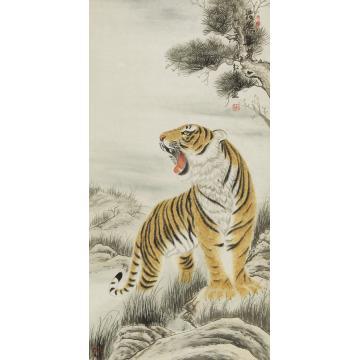 赵红伟四尺整张,竖幅国画动物浩然正气字画之家