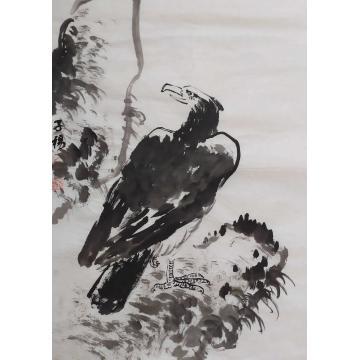 宋海尚四尺三开竖幅国画动物英姿字画之家