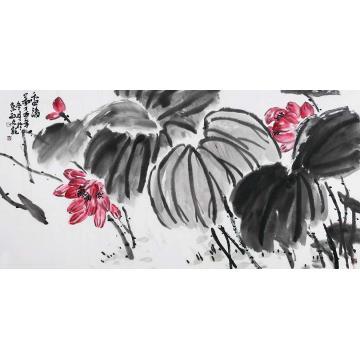 孙文四尺整张横幅国画花鸟香清图字画之家