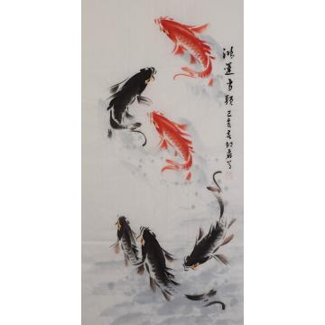 邵磊三尺整张,竖幅国画花鸟鸿运当头字画之家