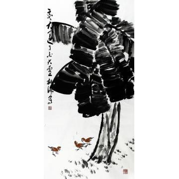 张东海四尺整张,竖幅国画花鸟交大运字画之家
