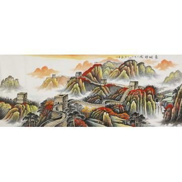 刘磊小八尺整张巨幅国画山水长城雄风字画之家
