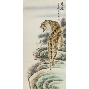 刘贝四尺整张,竖幅国画动物雄风字画之家