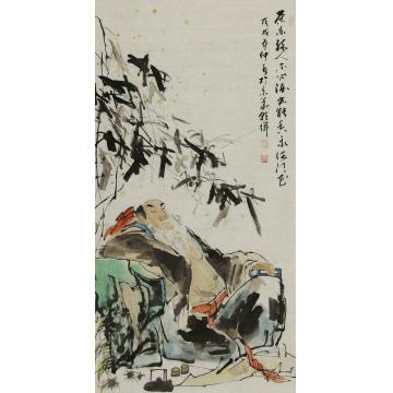 杨朝辉四尺整张,竖幅国画人物茶亦醉人字画之家