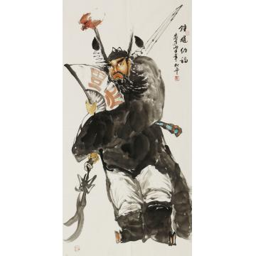 张松平四尺整张,竖幅国画人物钟馗纳福字画之家