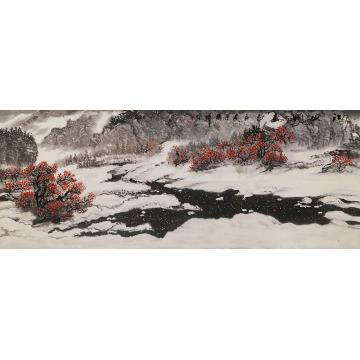 李胜祥小六尺整张,横幅国画山水江山如画字画之家