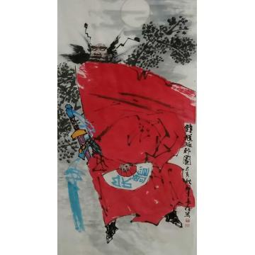 王长纯三尺整张,竖幅国画人物钟馗驱邪图字画之家