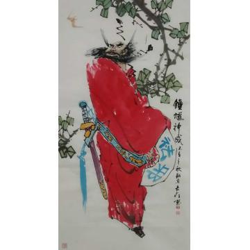 王长纯国画人物钟馗神威字画之家