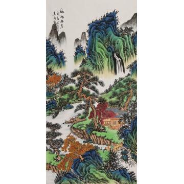 王春雨四尺整张竖幅国画山水福地幽居字画之家
