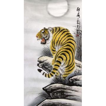 董慧敏四尺整张,竖幅国画动物神威字画之家