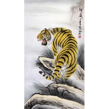 董慧敏四尺整张竖幅国画动物神威字画之家
