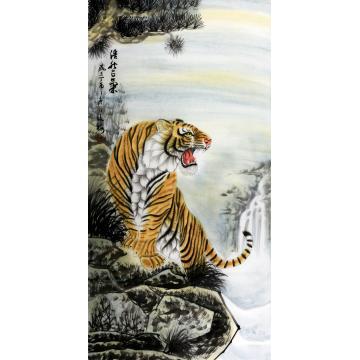 翟俊梅四尺整张,竖幅国画动物浩然正气字画之家