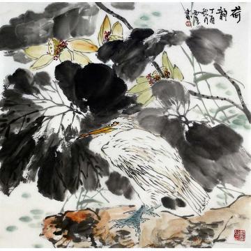 刘西厚四尺斗方国画花鸟荷韵字画之家