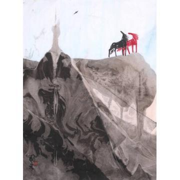 董国红国画动物双雄传奇字画之家
