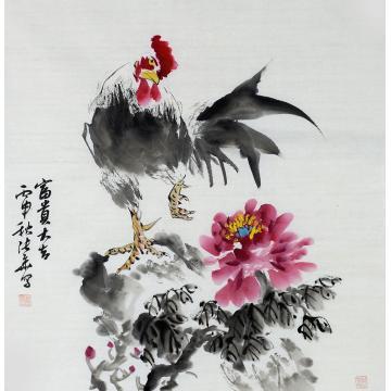 张华四尺斗方国画花鸟富贵大吉字画之家
