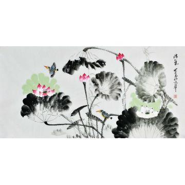 张明瑞四尺整张横幅国画花鸟清气字画之家