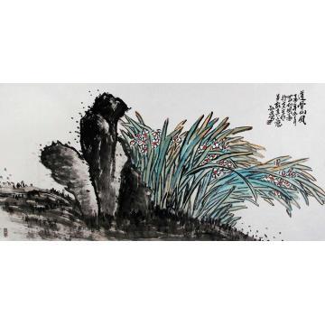 孙文四尺整张,横幅国画花鸟道骨仙风字画之家