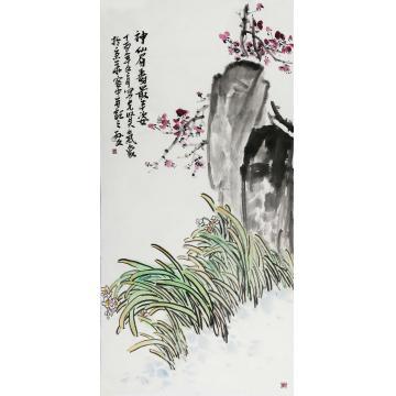 孙文四尺整张,竖幅国画花鸟神仙眉寿最丰姿字画之家