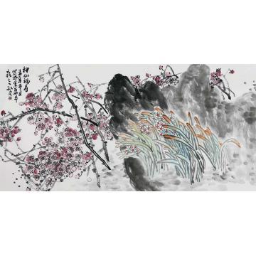 孙文四尺整张横幅国画花鸟神仙福寿字画之家