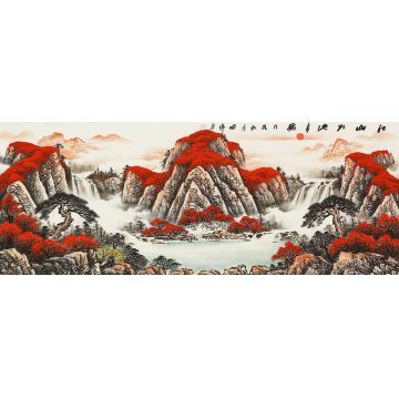 喻伟国画山水江山如此多娇字画之家