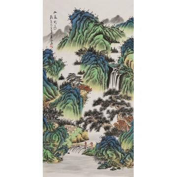 王春雨四尺整张竖幅国画山水山高水长字画之家