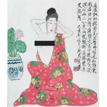 春之画国画人物金钗红粉字画之家