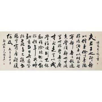 赵兰泉小六尺整张,横幅书法诸葛亮诫子书字画之家