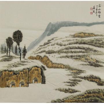 杨春生国画山水家山瑞雪字画之家