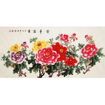 朱秋凤国画花鸟荣华富贵字画之家