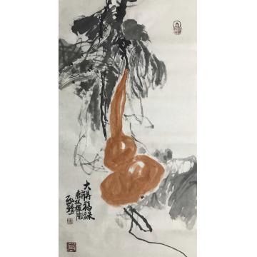 高光圃三尺整张竖幅国画花鸟大得福禄字画之家