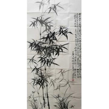田子源四尺整张,竖幅国画花鸟兰竹图字画之家
